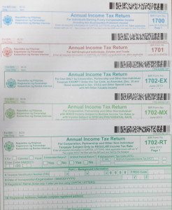 Sample Annual Income Tax Returns 2014